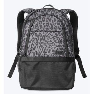 NWT VS Pink Brand Black Cheetah Print Backpack 🎒